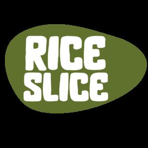 RiceSlice prezentációs logo tervezet